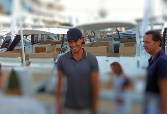 Rafa Nadal at Mallorca Boat Sales